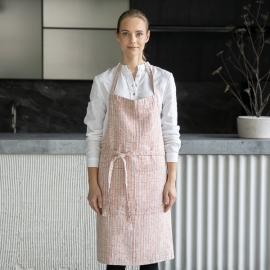Brittany Leinen Latzschürze Brick Natural