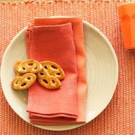 Lara Napkins Orange, Tangerine & Lara Placemat Orange