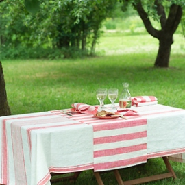 Tuscany Tablecloth, Philippe Runner and Napkins Red