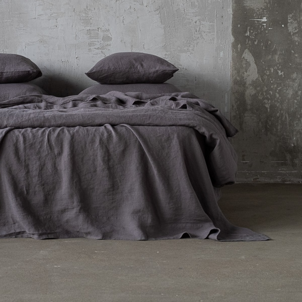 steel grau leinen bettlaken stone washed linenme. Black Bedroom Furniture Sets. Home Design Ideas