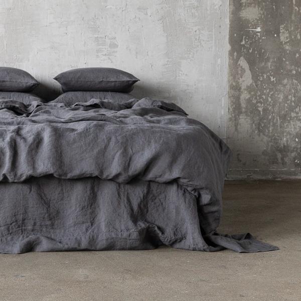 grau leinen bettbez ge stone washed linenme. Black Bedroom Furniture Sets. Home Design Ideas